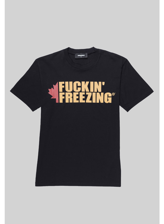 Dsquared2 T-Shirt Fuckin Freezing Black