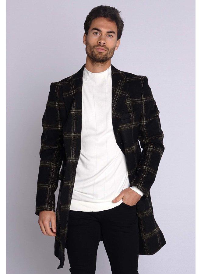 YCLO Carston Coat Black/Olive