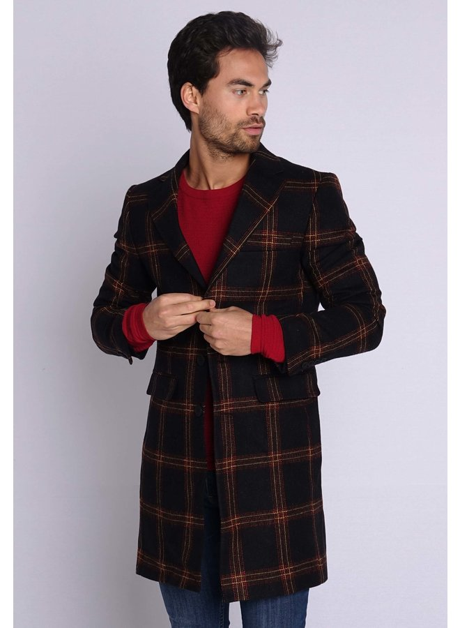 YCLO Carston Coat Black/Red