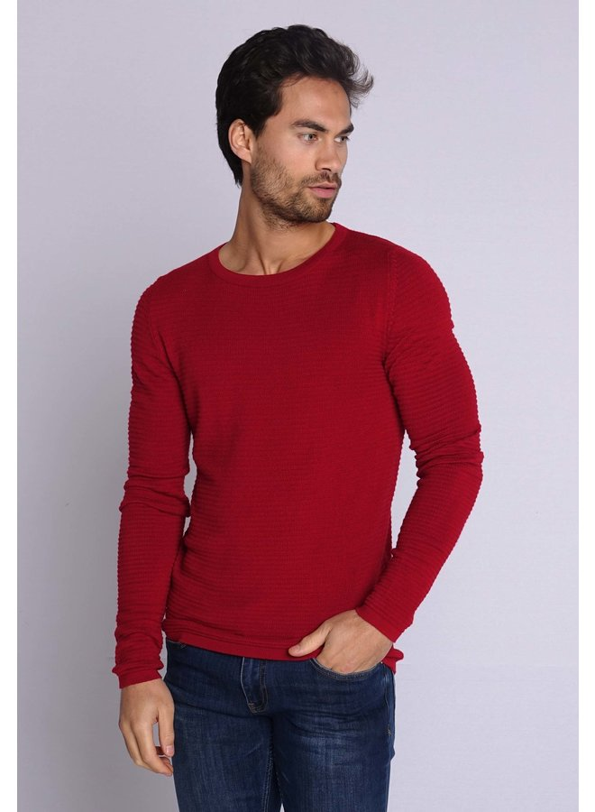 YCLO Knit Pullover Capton Red