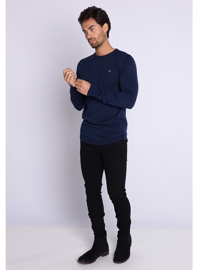 YCLO Knit Sweater Kaj Navy
