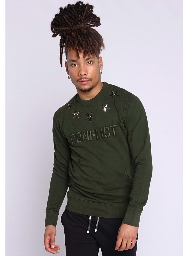 Conflict Sweater Metal Stars Army
