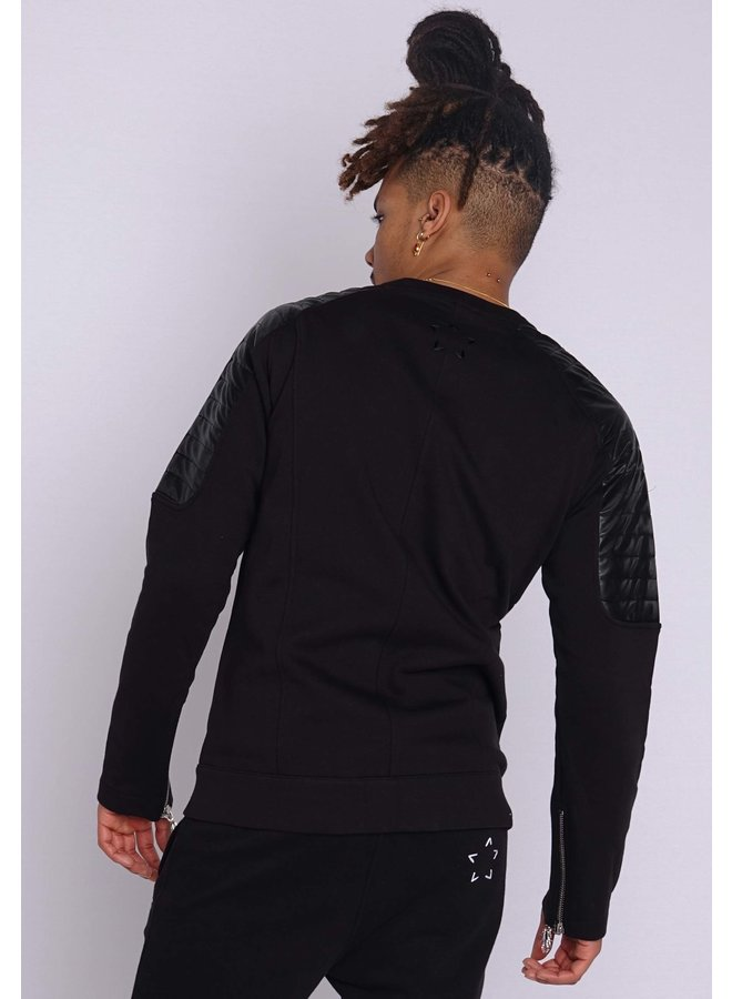 Conflict Sweat Jacket Black
