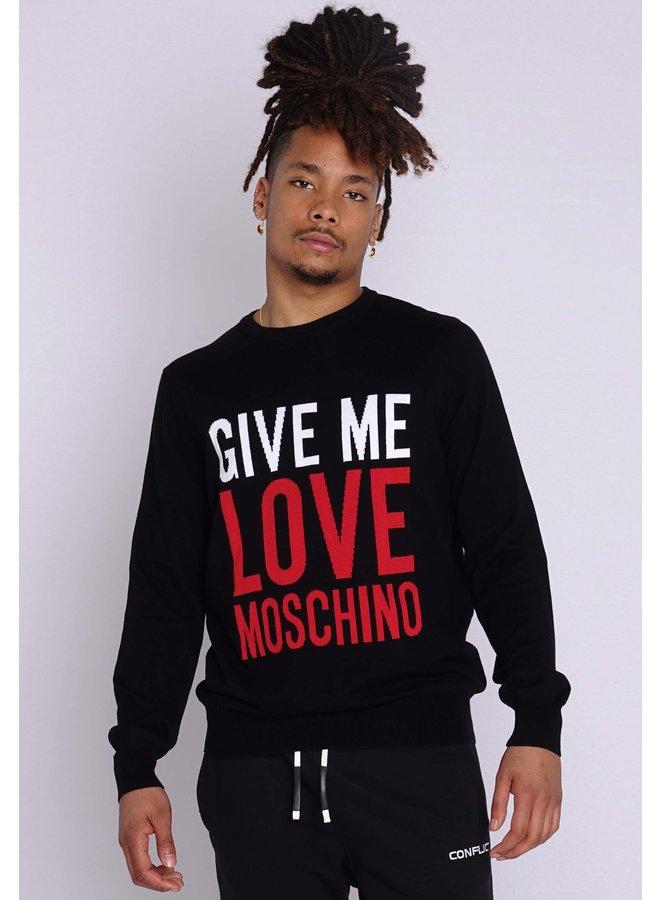 Love Moschino Stricklogo Schwarz