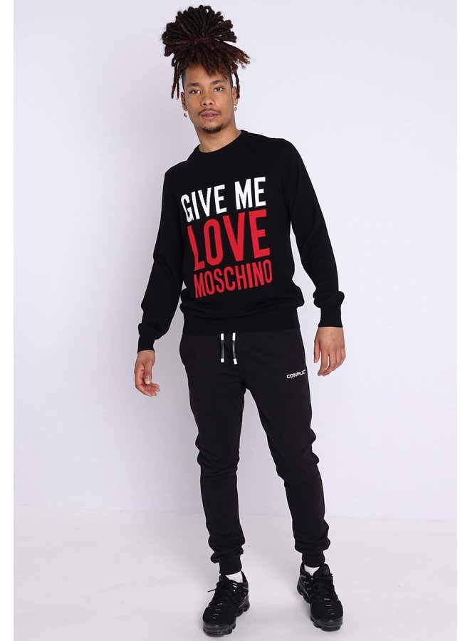 Love Moschino Knit Logo Black