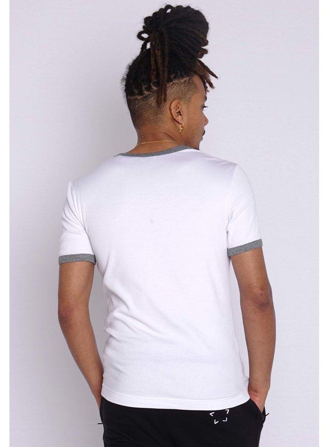 Dolce & Gabbana T-Shirt V-Ausschnitt Weiß