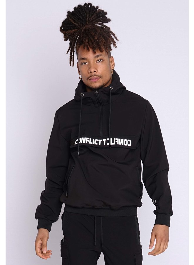 Conflict Anorak Soft Shell Jacket Black/Reflective