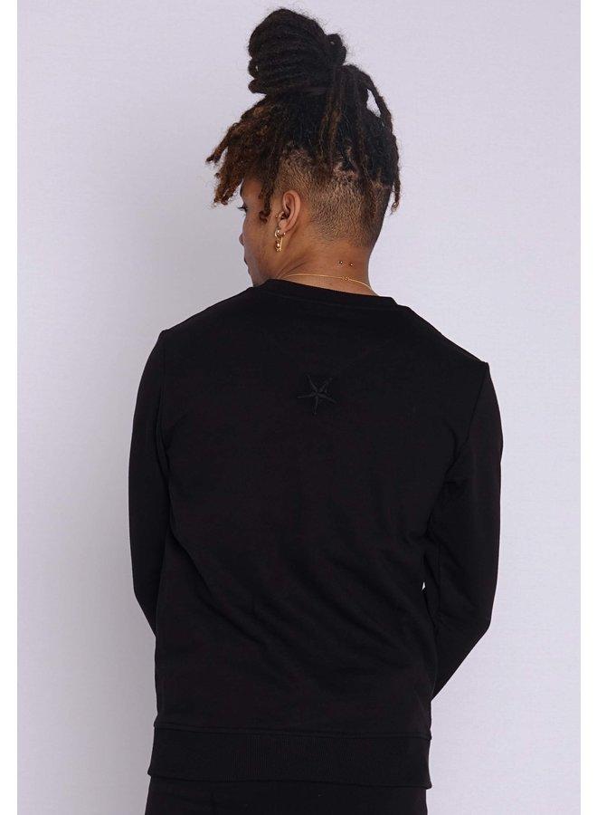 Conflict Sweater Snake Zip Black