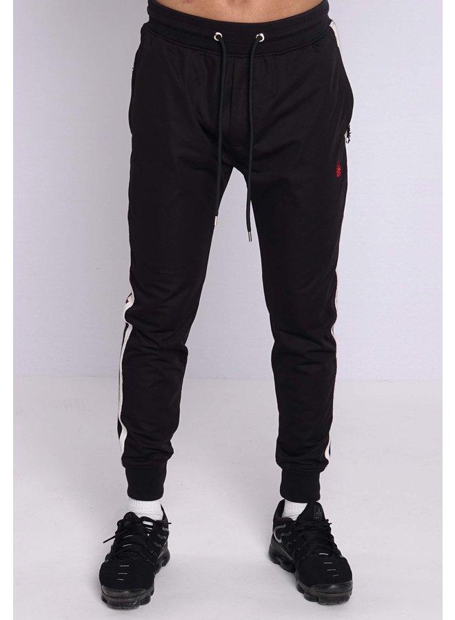 Conflict Track Pants Knit Line Black