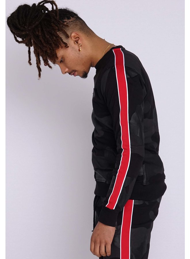 Conflict Sweater Camo Line Black