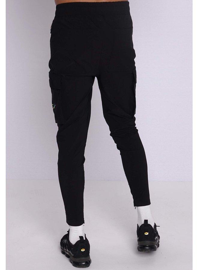 Conflict Cargo Pants Stretch Black/Rainbow