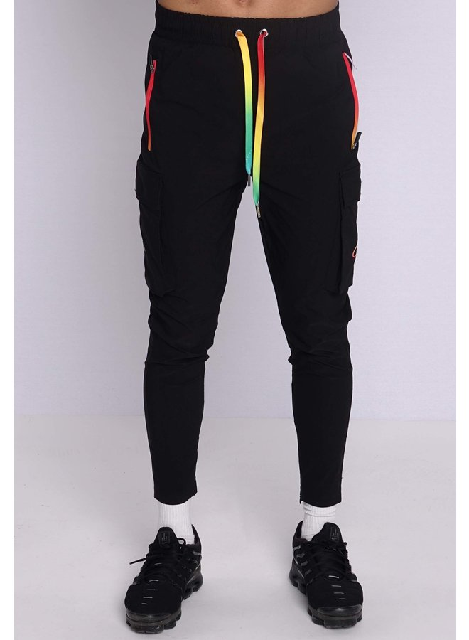 Conflict Cargo Pants Stretch Black / Rainbow