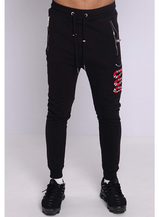 Conflict Trackpants Snake Black