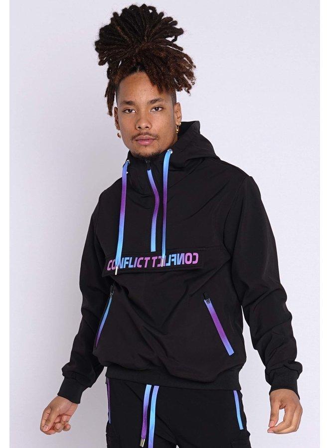 Conflict Anorak Soft Shell Jacket Black/Purple