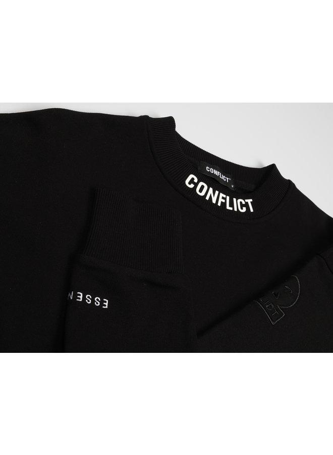 Conflict Sweater Logo Essentials Black