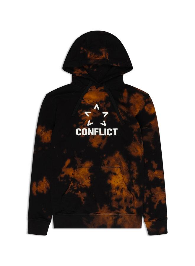 Conflict Hoodie Tie Dye Black
