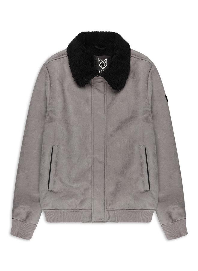 YCLO Shearling Jacket Mads Grey