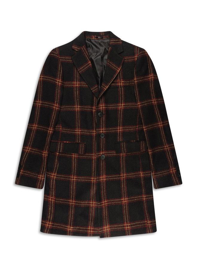 YCLO Carston Coat Schwarz / Rot