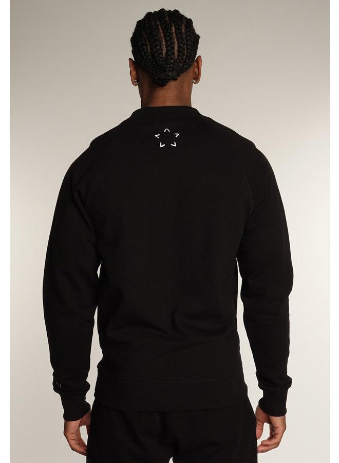 Conflict Raglan Sweater Essentials Black