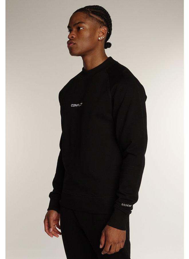 Conflict Raglan Sweater Essentials Schwarz