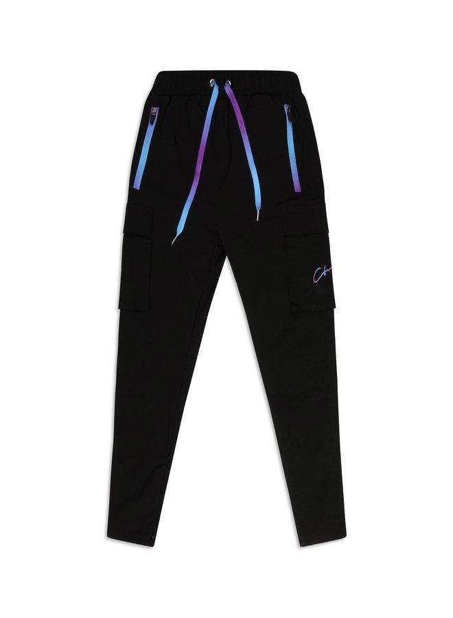 Conflict Cargo Pants Stretch Black/Purple