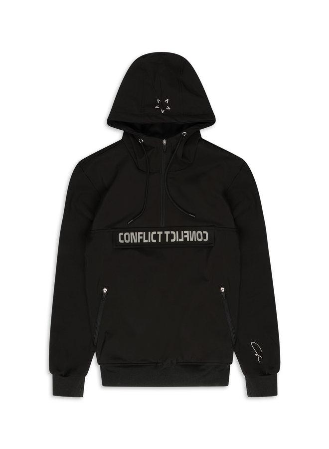 Conflict Anorak Softshelljacke Schwarz / Reflektierend