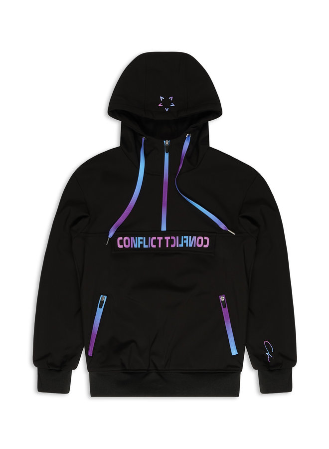Conflict Anorak Soft Shell Jacket Black / Purple