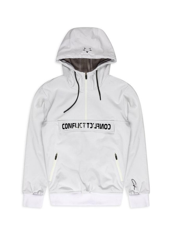 Conflict Anorak Softshell Jacke Weiß