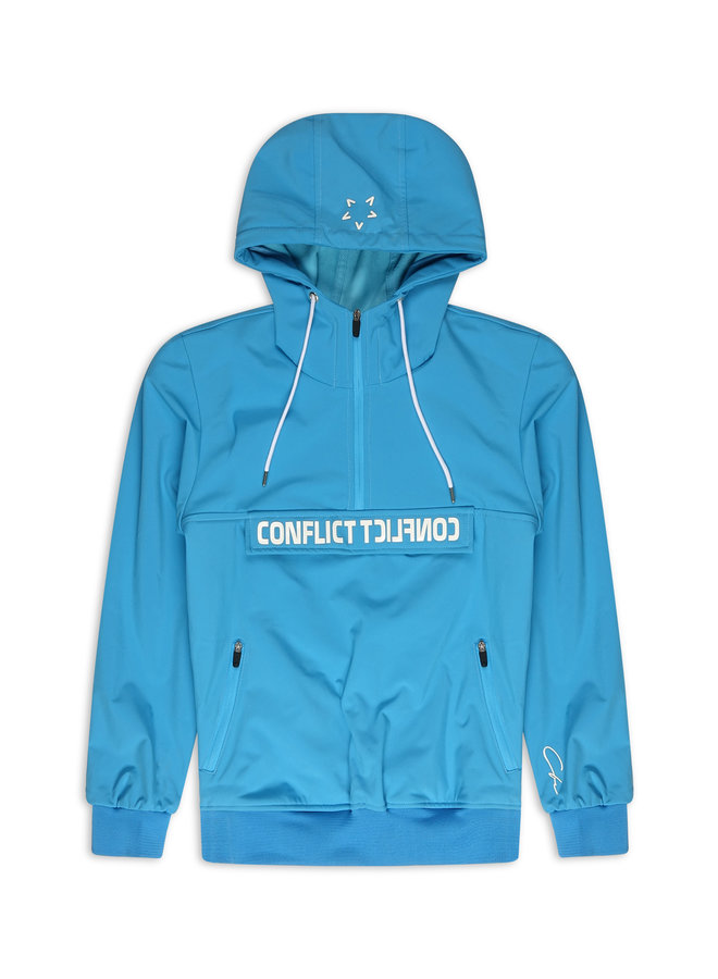 Conflict Anorak Softshell-Jacke Blau