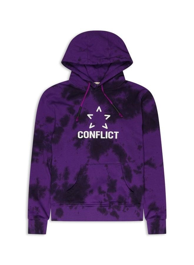 Conflict Hoodie Tie Dye Lila