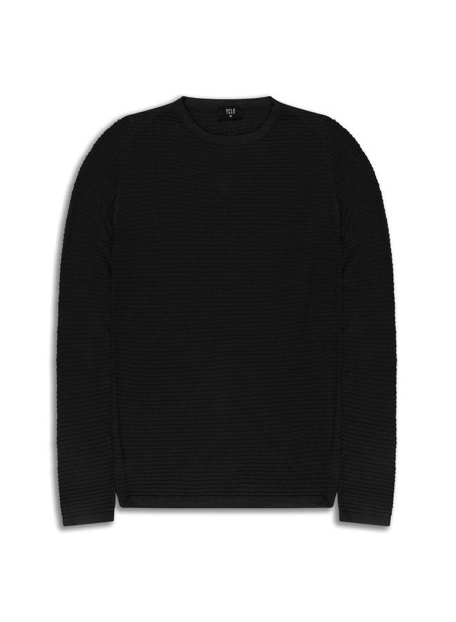 YCLO Knit Pullover Capton Black