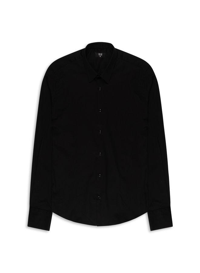 YCLO Enno Button Shirt Schwarz