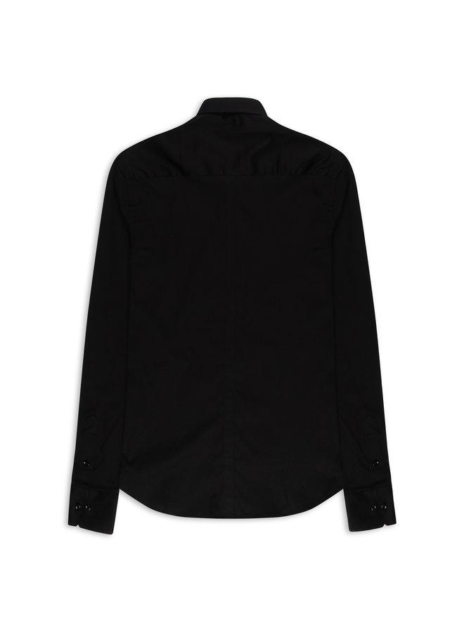 YCLO Enno Button Shirt Black