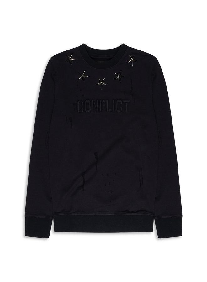 Conflict Sweater Metal Stars Navy