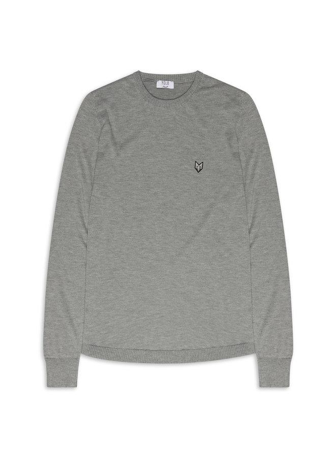 YCLO Knit Sweater Kaj Grey Melange