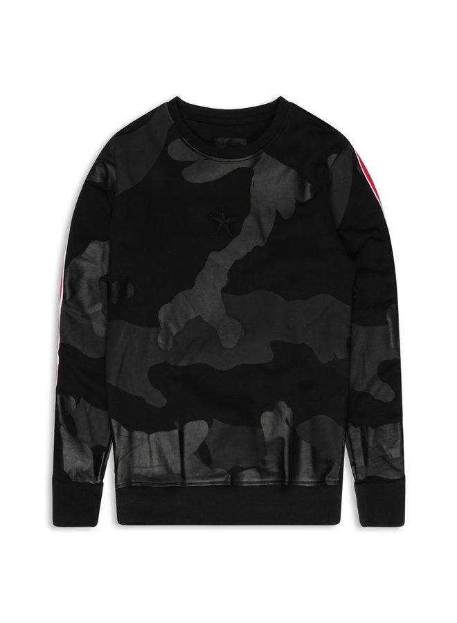 Conflict Sweater Camo Line Schwarz