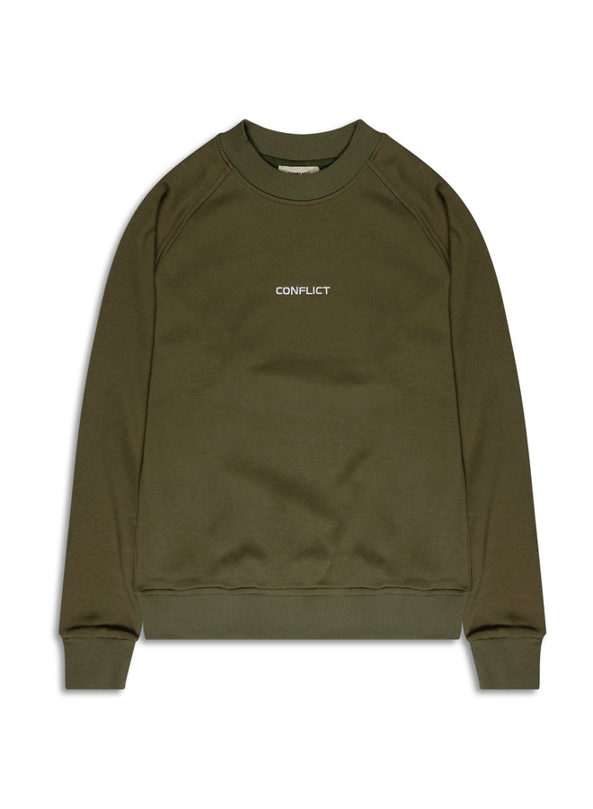 Conflict Raglan Sweater Essentials Army