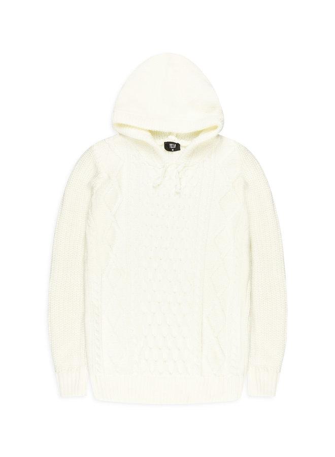 YCLO Knit Hoodie Stigo Off White