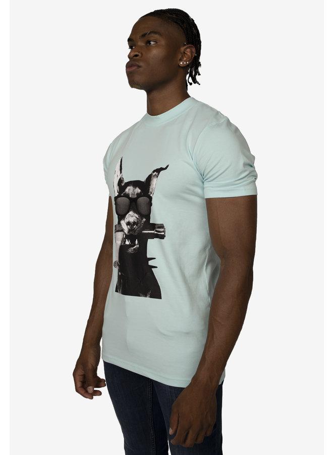 Conflict T-Shirt Dobermann Light Blue