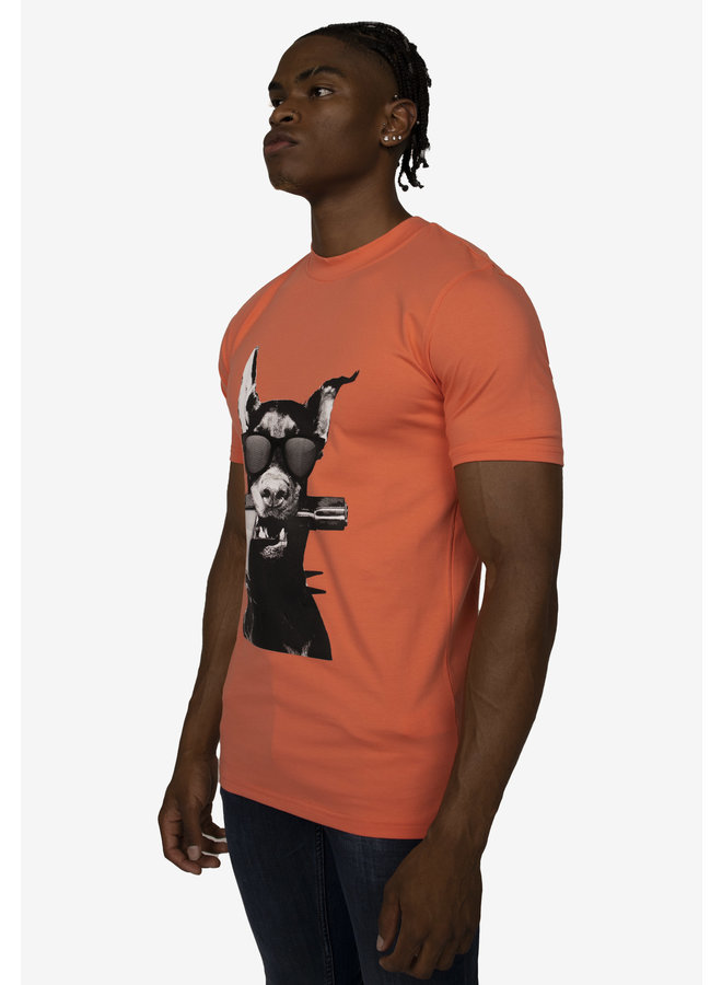 Conflict T-Shirt Dobermann Peach