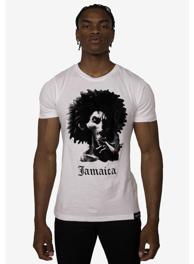 Conflict T-Shirt Rasta White