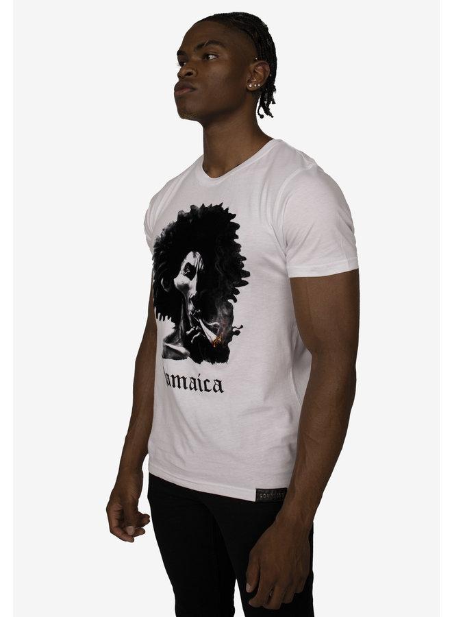 Conflict T-Shirt Rasta Weiß