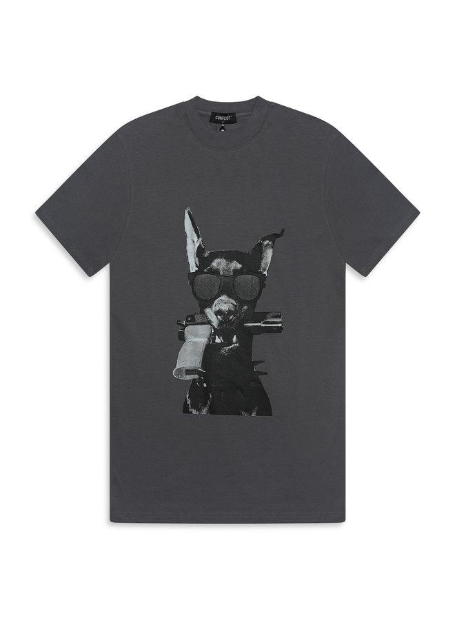 Conflict T-Shirt Dobermann Anthracite