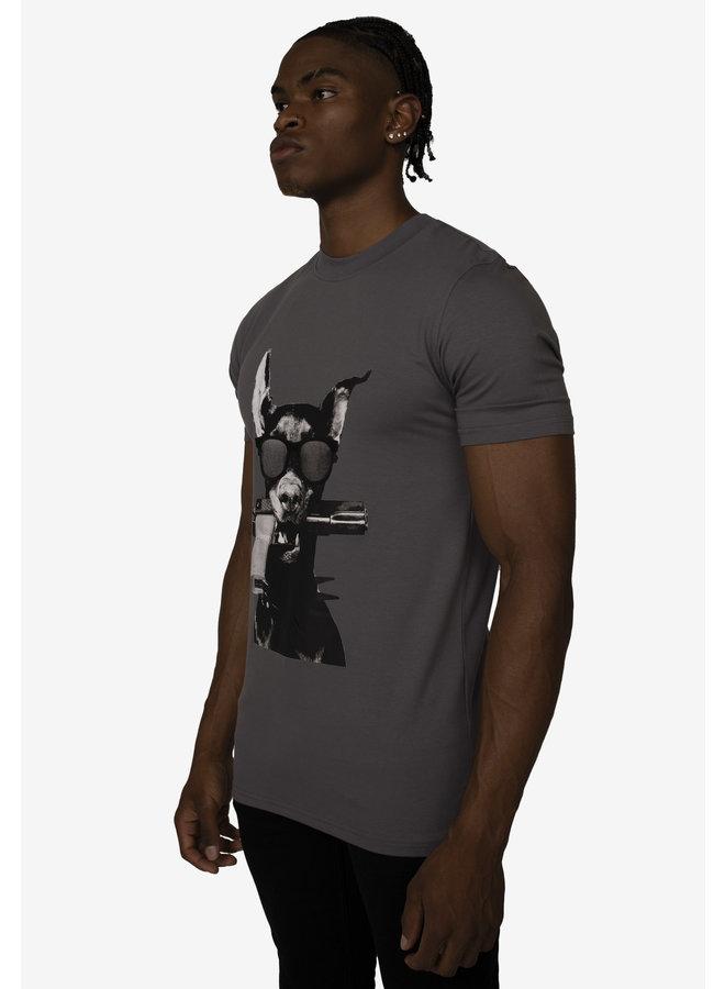 Conflict T-Shirt Dobermann Anthrazit