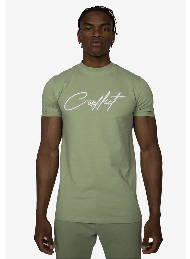 Conflict T-Shirt Signature Light Green