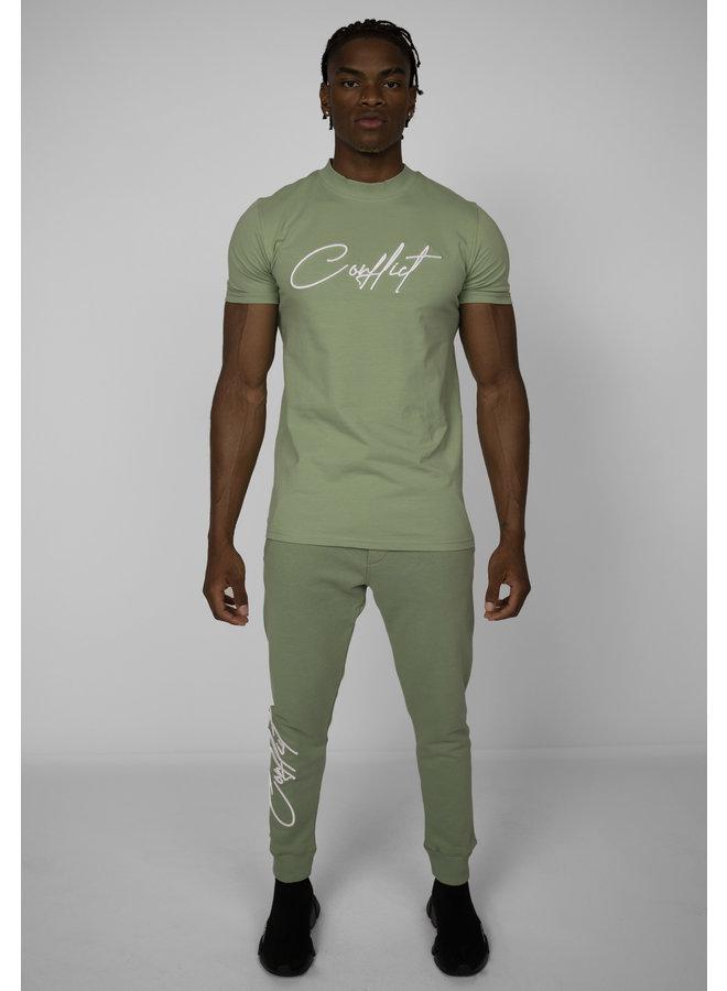Conflict T-Shirt Signature Hellgrün