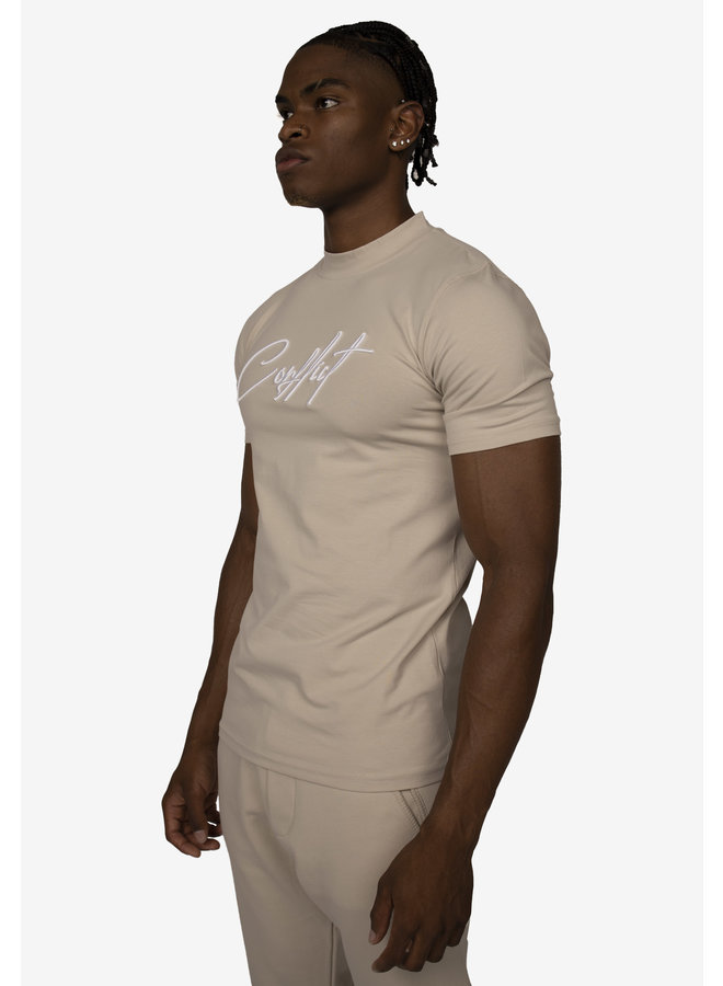 Conflict T-Shirt Signature Beige