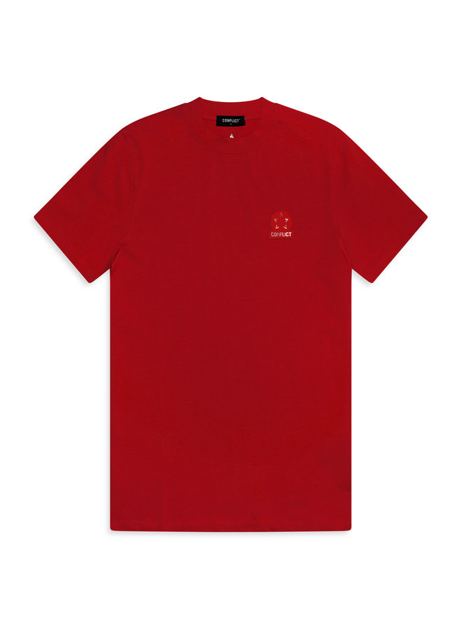Conflict T-Shirt + Shorts Twinset Logo Red