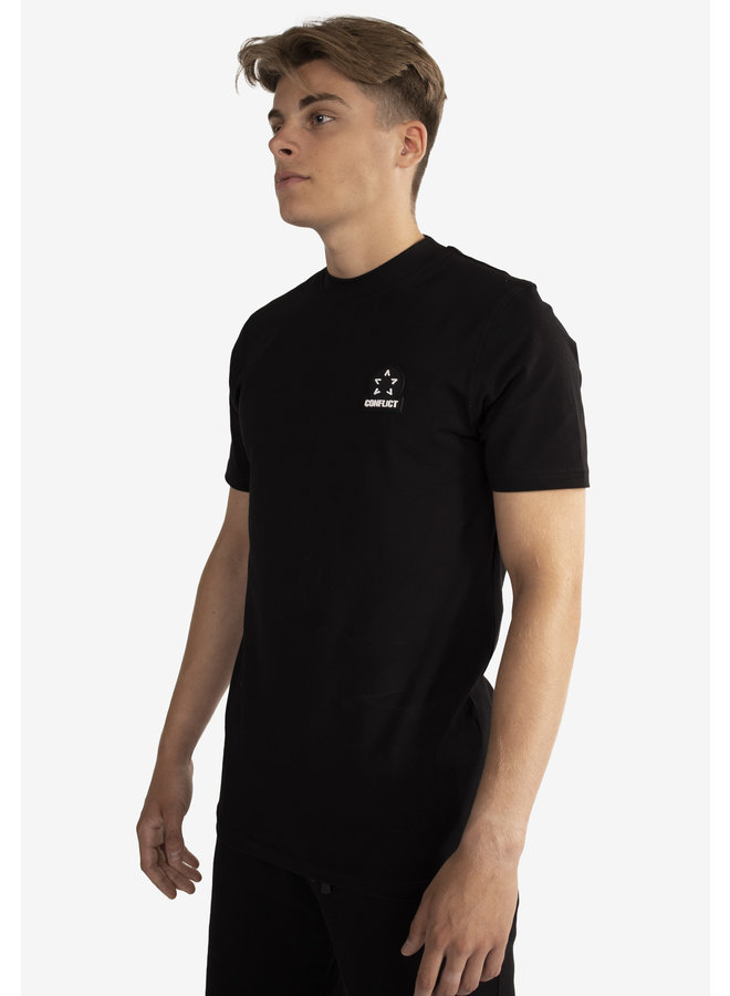 Conflict T-Shirt Logo Black