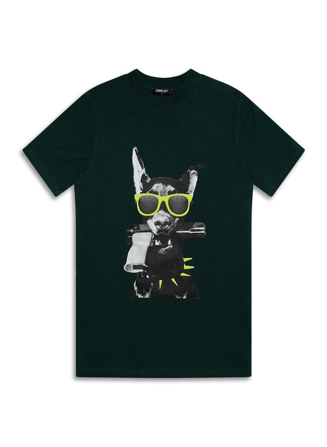 Conflict T-Shirt Dobermann Grün